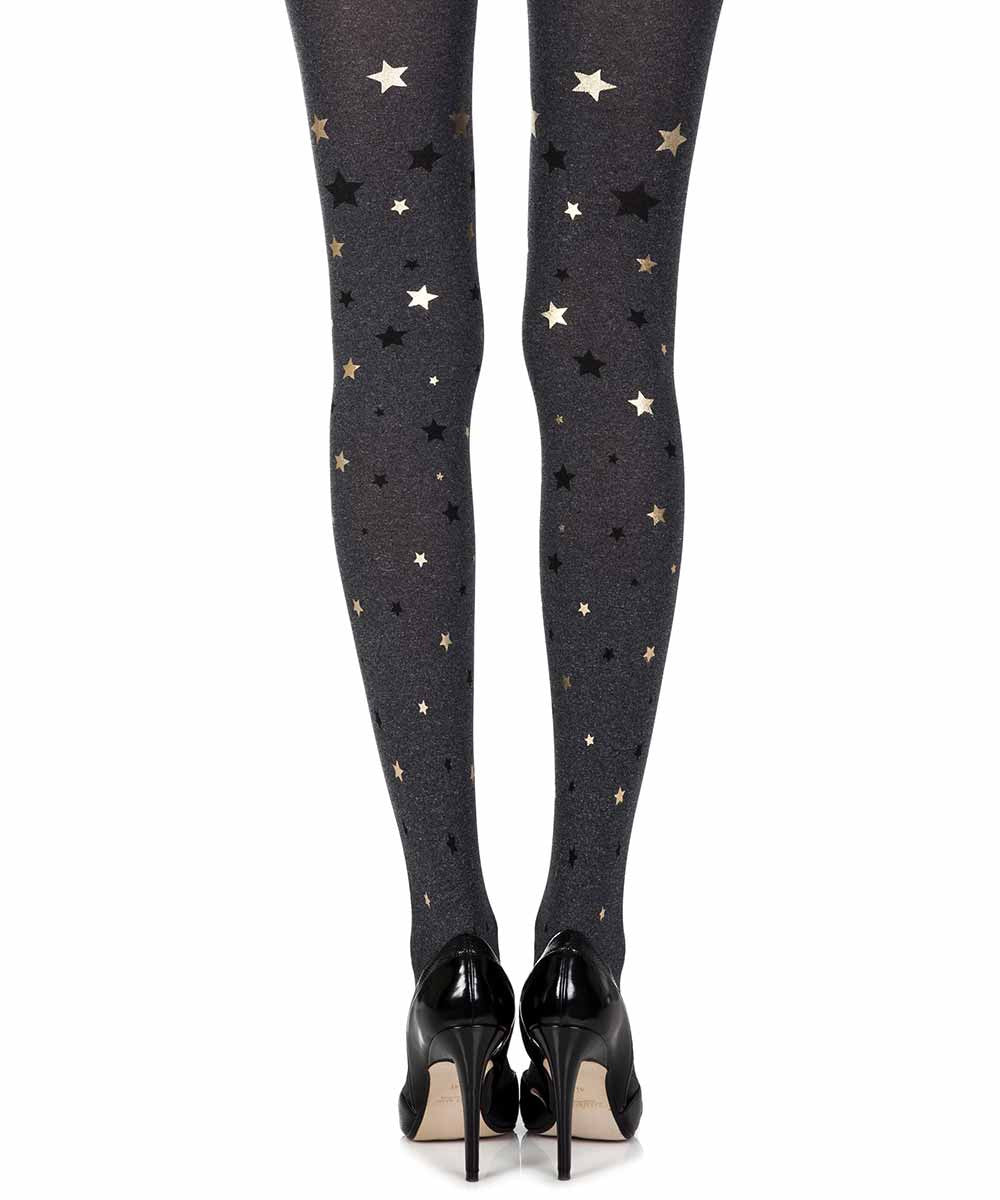 Zohara Opaque Star Light Print Tights