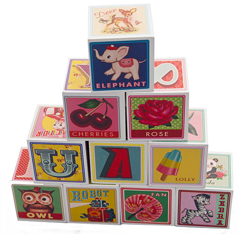 WU & WU Wooden Alphabet and Number Blocks