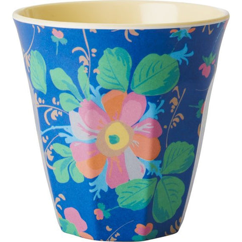 Rice DK Larege Flower Print Two Tone Melamine Cup