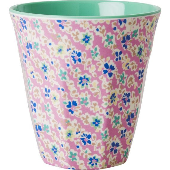 Rice DK Pink Floral Print Two Tone Melamine Cup