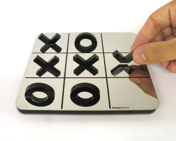 Peleg Design | Reflective Tic Tac Toe Black