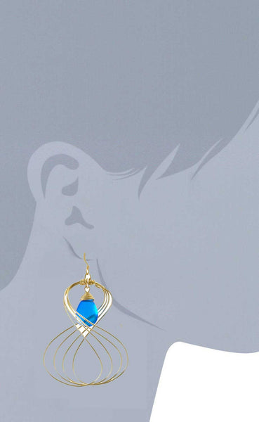 Susan Hanover Sliced Sapphire earrings