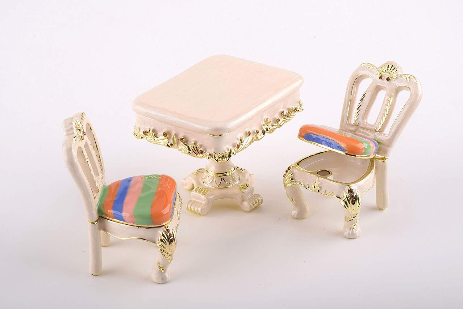 Table & Chairs Trinket Boxes