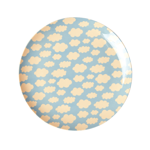 Rice DK | Kids Melamine Lunch PLate with Cloud Print