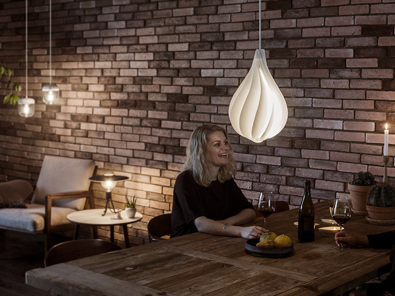 Vita Lighting | Alva Medium White Light Pendant Shade