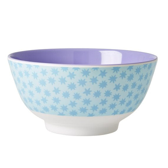 Rice DK Two-Tone Melamine Bowl Stardust Print