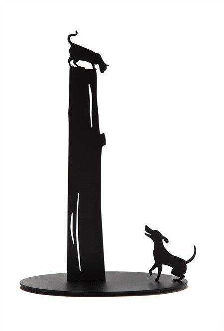 Artori Design | Dog Vs. Cat Black Paper Towel Holder