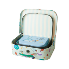 Rice DK | Cardboard Suitcase Set of 3 in Space Print