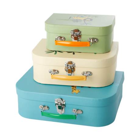 Rice DK | Cardboard Suitcase Set of 3 in jungle Animal Prints