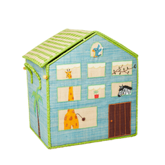Rice Dk Raffia Toy Basket Jungle House Theme