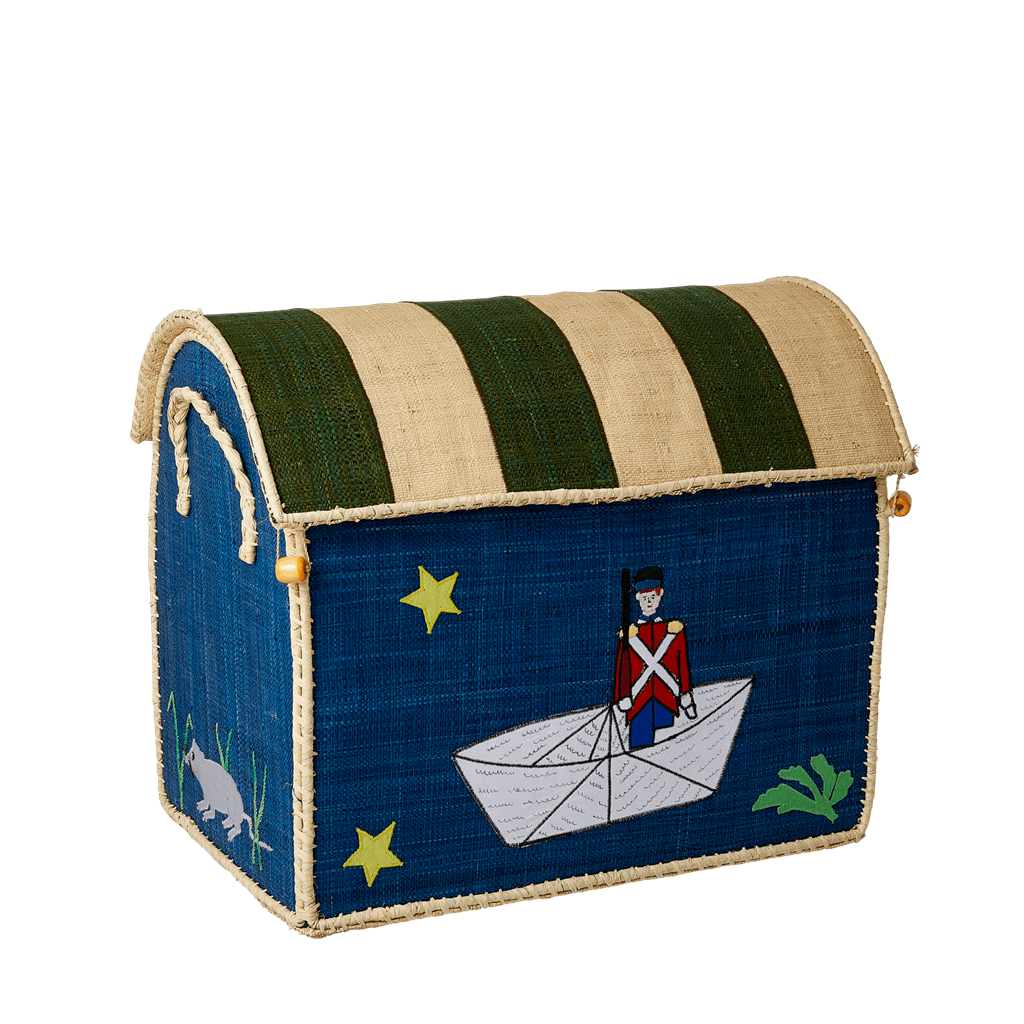 Rice DK Raffia Medium Toy Basket Tin Soldier