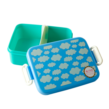 Rice DK Lunch Divider Box Blue Cloud