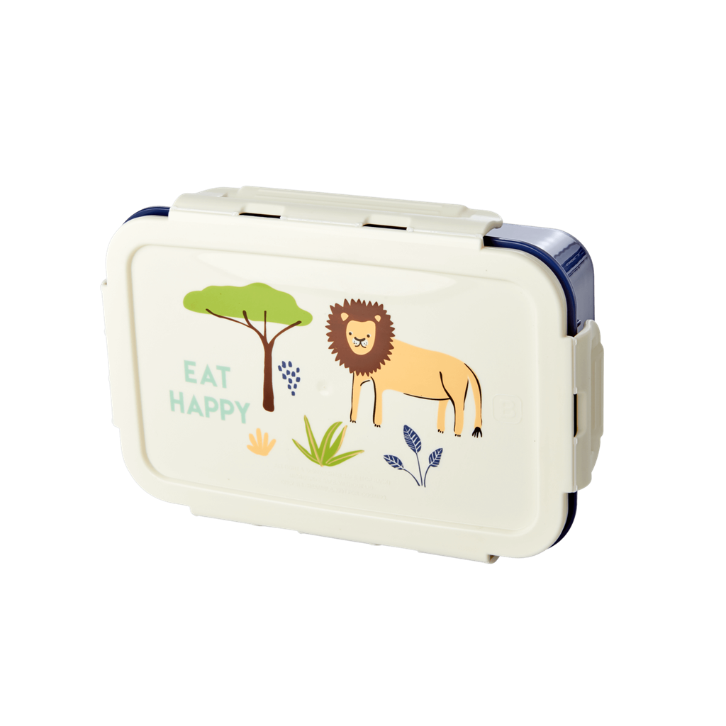 Rice Dk Lunchbox Divider with 3 Inserts-Blue Jungle Print