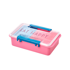 Rice DK Lunch Divider Box 'Eat Happy""