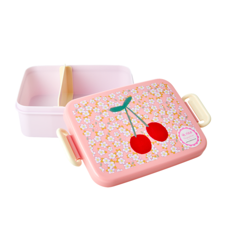 Rice Dk Lunchbox Divider with Small Flowers Cherry Print