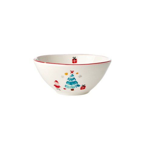 Rice DK Ceramic Bowl with Christmas Tree