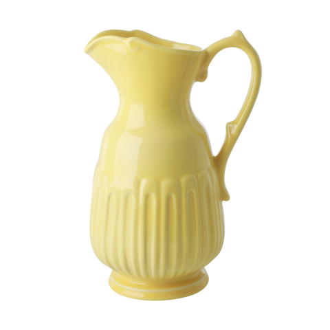Rice DK Large Ceramic Bright Yellow Jug