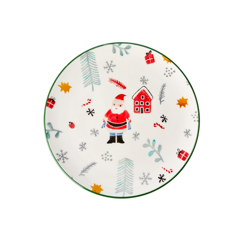 Rice DK Ceramic Lunch plate with Santa Claus
