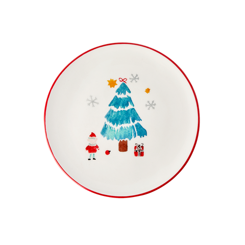 Rice DK Ceramic Lunch plate with Christmas Tree