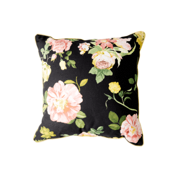 Rice DK Pillow Dark Rose Print