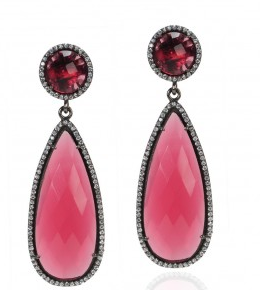Susan Hanover Pink Double Drop Earrings