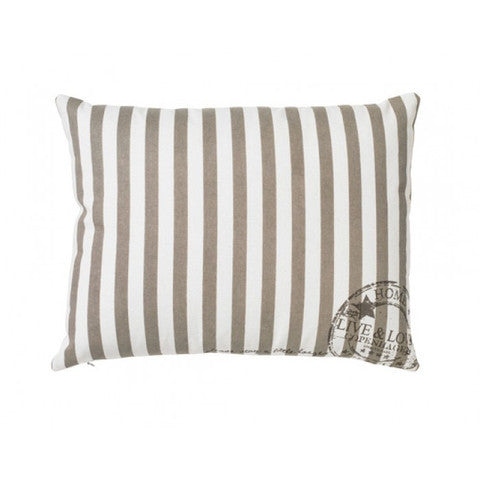 Lisbeth Dahl | Striped Live & Love Stampthrow Pillow