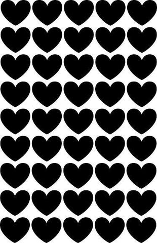 Wall Decal Black Heart Stickers | Tayo Studio