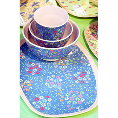 Rice DK | Two-Tone Small Melamine Bowl Wild Flower Print