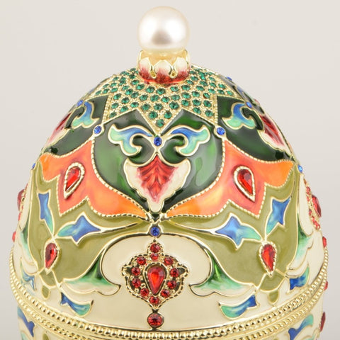 Colorful Russian Egg Trinket Box
