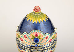 Blue Colorful Russian Egg