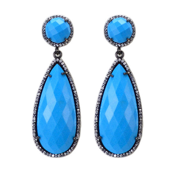 Susan Hanover Turquoise Jewel Earrings