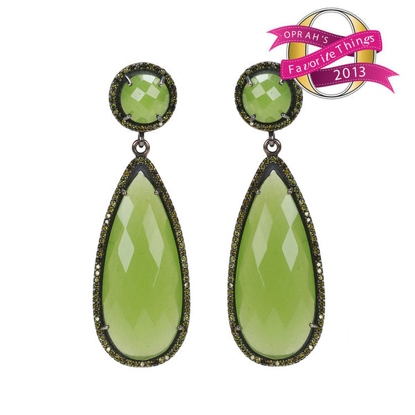 Susan Hanover Green Crown Jewel Earrings