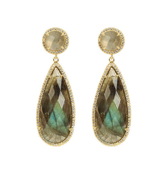 Susan Hanover Labradorite Crown Jewel Earrings