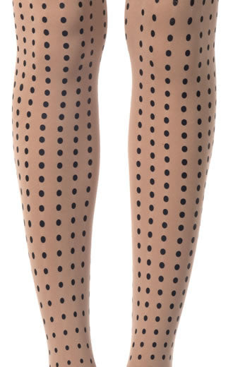Zohara Powder Opaque Tights Polka Dot Print