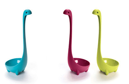 Set of 3 Colorful Nessie Soup Ladles