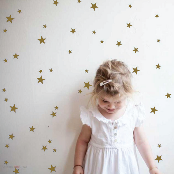 Wall Decal Gold Star Stickers | Tayo Studio