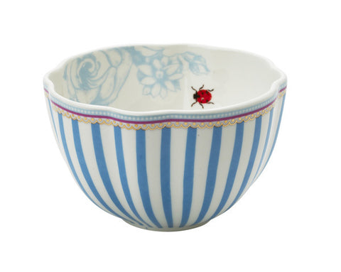 Lisbeth Dahl | Small Stripes and Ladylbug Porcelain bowl