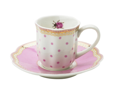 Lisbeth Dahl | Set of 2 Espresso 'Happy Dot' Porcelain Cups