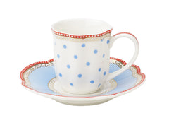 Lisbeth Dahl | Set of 2 Espresso Holiday Dot Porcelain Cups