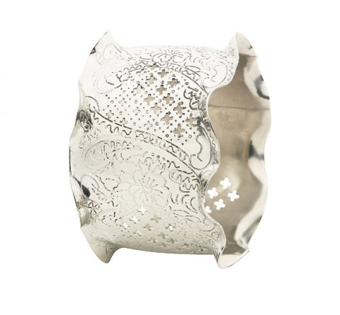 Lisbeth Dahl | Silver Napkin Ring with Paisley Pattern