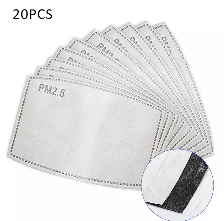 Grey CrissCross Print Washable Mouth Mask + 2 Protective PM 2.5 Filters