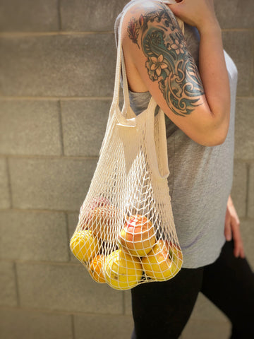 Cotton Mesh String Market Bag