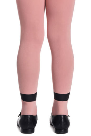 Zohara Kids Pink Opaque Tights Panda Print