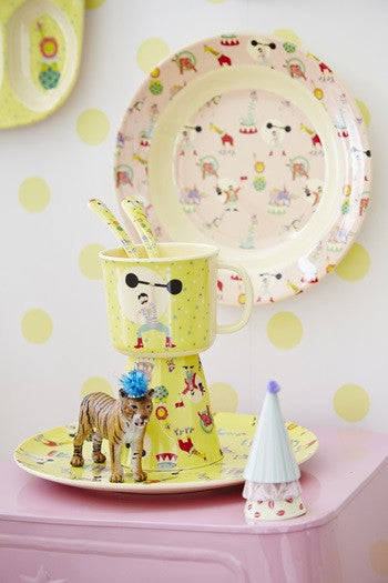 Rice DK | Baby Melamine Cup with Boy Circus Print