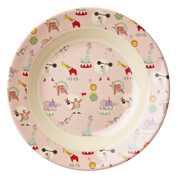 Rice DK | Kids Melamine Bowl with Girl Circus Print