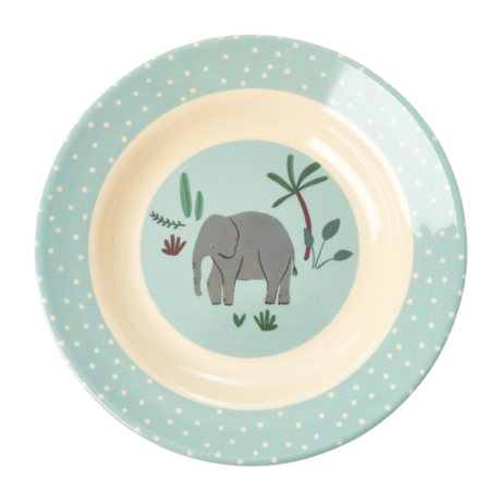 Rice Dk Melamine Blue Jungle Animal Bowl