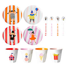 Rice DK | Melamine Kids Dinner Set in Gift Box Circus Print