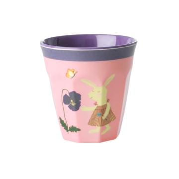 Rice DK | Kids Small Melamine Cup with Pink Bunny Print