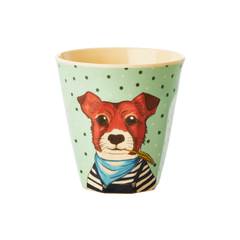 Rice Dk Kids' Small Greens Animal Assorted Prints Melamine Cups