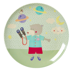 Rice DK | Boys Melamine Lunch Plate with Happy Animal Print
